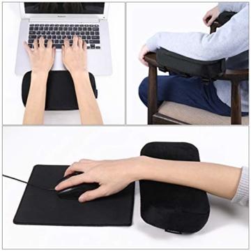 Healifty Armlehnen Polster - Memory Foam für Bürostuhl und Spielstuhl Armlehnen Bezüge Ergonomisch für Ellbogen und Unterarm Anti-Rutsch Unterseite (2PCS) - 2