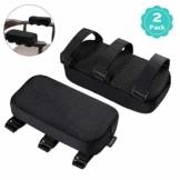 Healifty Armlehnen Polster - Memory Foam für Bürostuhl und Spielstuhl Armlehnen Bezüge Ergonomisch für Ellbogen und Unterarm Anti-Rutsch Unterseite (2PCS) - 1