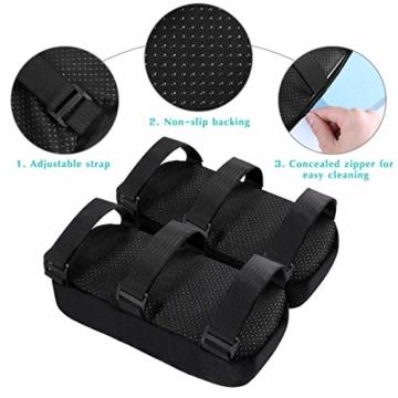 Healifty Armlehnen Polster - Memory Foam für Bürostuhl und Spielstuhl Armlehnen Bezüge Ergonomisch für Ellbogen und Unterarm Anti-Rutsch Unterseite (2PCS) - 5