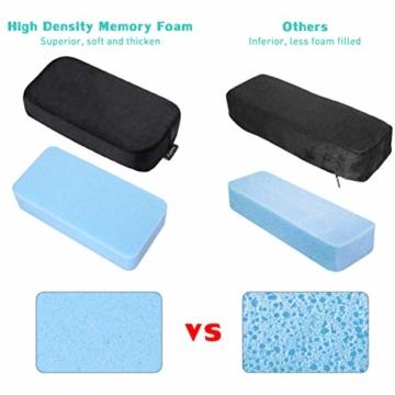 Healifty Armlehnen Polster - Memory Foam für Bürostuhl und Spielstuhl Armlehnen Bezüge Ergonomisch für Ellbogen und Unterarm Anti-Rutsch Unterseite (2PCS) - 6