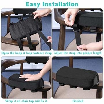 Healifty Armlehnen Polster - Memory Foam für Bürostuhl und Spielstuhl Armlehnen Bezüge Ergonomisch für Ellbogen und Unterarm Anti-Rutsch Unterseite (2PCS) - 7