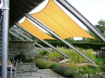 jarolift Sonnensegel Rechteck wasserabweisend, 300 x 200 cm, cremeweiß - 5