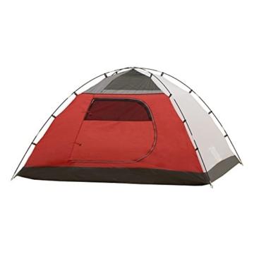 JUSTCAMP Campingzelt Austin 4, Kuppelzelt, Doppelwandig, 4 Personen - grau, Iglu Zelt, Festival, Ausflug, Reise - 7