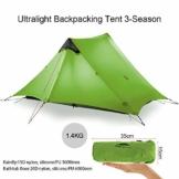 KIKILIVE ultraleichtes Campingzelt Neues LanShan für den Außenbereich,1Person / 2 Personen/ 3 Personen Zeltunterstand perfekt für Camping,Rucksacktourismus und Wanderungen - 1