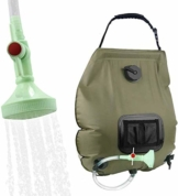 KIPIDA Campingdusche Solardusche 20L Duschsack Solar Heizung Camping Dusche Tasche mit Duschkopf & On-Off Switchable, Gartendusche Pooldusche Warmwasser Shower, Outdoor Camping Wandern Wassersack - 1