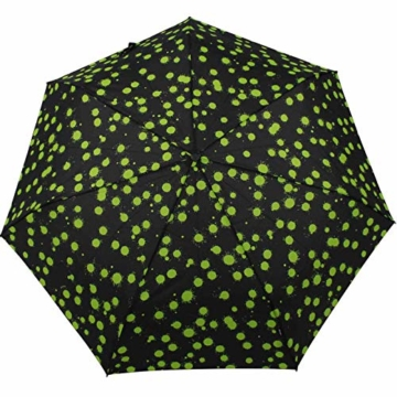 Knirps Taschenschirm Slim Duomatic Paint Drops - Green - 4