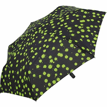 Knirps Taschenschirm Slim Duomatic Paint Drops - Green - 5