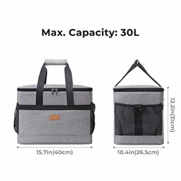 Lifewit 30L Kühltasche Picknicktasche Lunchtasche Mittagessen Tasche Thermotasche Isoliertasche für Lebensmitteltransport - 6