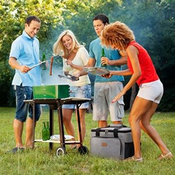 Lifewit Kühltasche Gross Thermotasche Cooler Bag Einkaufstasche Kühlbox Thermo Tasche Lunchtasche Picknicktasche isoliert faltbar für Lebensmitteltransport,25L - 3