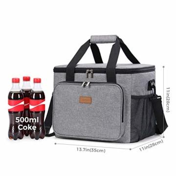 Lifewit Kühltasche Gross Thermotasche Cooler Bag Einkaufstasche Kühlbox Thermo Tasche Lunchtasche Picknicktasche isoliert faltbar für Lebensmitteltransport,25L - 4