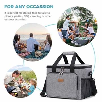 Lifewit Kühltasche Gross Thermotasche Cooler Bag Einkaufstasche Kühlbox Thermo Tasche Lunchtasche Picknicktasche isoliert faltbar für Lebensmitteltransport,25L - 5