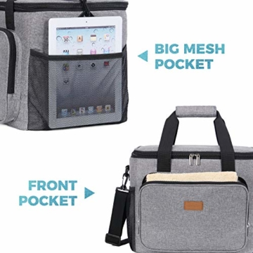 Lifewit Kühltasche Gross Thermotasche Cooler Bag Einkaufstasche Kühlbox Thermo Tasche Lunchtasche Picknicktasche isoliert faltbar für Lebensmitteltransport,25L - 6