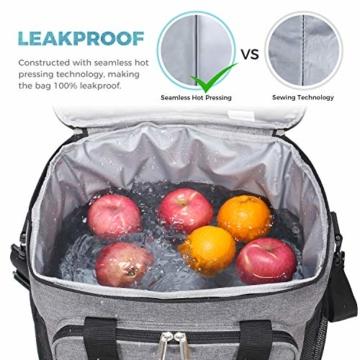 Lifewit Kühltasche Gross Thermotasche Cooler Bag Einkaufstasche Kühlbox Thermo Tasche Lunchtasche Picknicktasche isoliert faltbar für Lebensmitteltransport,25L - 7