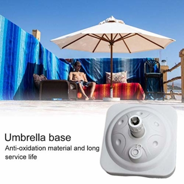 Lvhan Sonnenschirm Schirmständer - Sonnenschirmständer befüllbar mit Wasser oder Sand,Balkonschirmständer für Garten, Terrasse,Balkon Weiß - 2