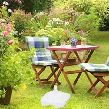 Lvhan Sonnenschirm Schirmständer - Sonnenschirmständer befüllbar mit Wasser oder Sand,Balkonschirmständer für Garten, Terrasse,Balkon Weiß - 4