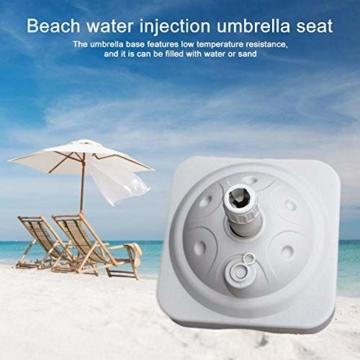 Lvhan Sonnenschirm Schirmständer - Sonnenschirmständer befüllbar mit Wasser oder Sand,Balkonschirmständer für Garten, Terrasse,Balkon Weiß - 5