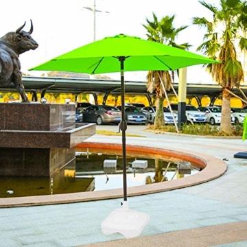 Lvhan Sonnenschirm Schirmständer - Sonnenschirmständer befüllbar mit Wasser oder Sand,Balkonschirmständer für Garten, Terrasse,Balkon Weiß - 7