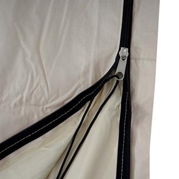 Mendler Schutzhülle HWC für Ampelschirm bis 4,3 m (3x3 m), Abdeckhülle Cover mit Reißverschluss ~ Creme - 2