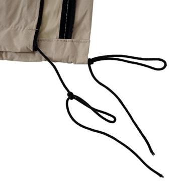 Mendler Schutzhülle HWC für Ampelschirm bis 4,3 m (3x3 m), Abdeckhülle Cover mit Reißverschluss ~ Creme - 4