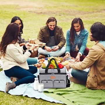 NASUM Kühltasche, Lebensmitteltasche, tragbare Kühltasche für Picknick, Outdoor-Aktivitäten, Grill/Camping/Sport/Reisen (23 l) - 2