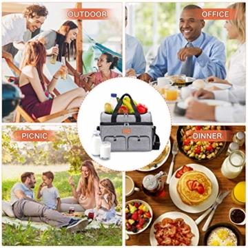 NASUM Kühltasche, Lebensmitteltasche, tragbare Kühltasche für Picknick, Outdoor-Aktivitäten, Grill/Camping/Sport/Reisen (23 l) - 5