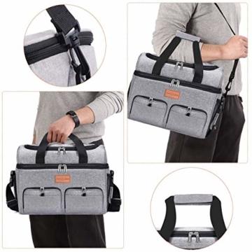 NASUM Kühltasche, Lebensmitteltasche, tragbare Kühltasche für Picknick, Outdoor-Aktivitäten, Grill/Camping/Sport/Reisen (23 l) - 7