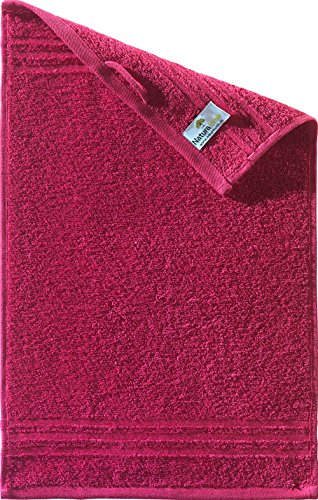 Naturawalk Handtücher Serie Milano Bio-Baumwolle in Luxusqualität, in 7 Größen und 16 Trendfarben - Grösse Gästetuch 30x50 cm, Farbe Bordeaux 261 - 2