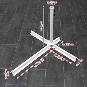 Nexos Sonnenschirm hängend Ø 2,9m Stahl 6 Rippen Gestell UV Schutz Ampelschirm Gartenschirm Marktschirm mit Kurbel Schirmstoff anthrazit wasserabweisend - 3