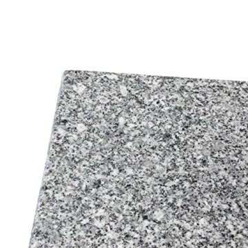 Nexos Sonnenschirmständer Granit Grau eckig mit Trolley-Griff, Rollen, Reduzierhülsen, Edelstahlrohr poliert 45 x 45 cm 40 kg. Für Schirme bis 3,5 m - 2