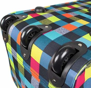 normani Reisetasche Jumbo Big-Travel mit Rollen riesige XXL Farbe Neon Square - 3