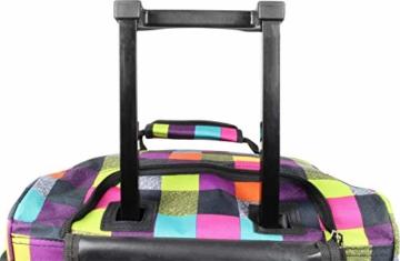 normani Reisetasche Jumbo Big-Travel mit Rollen riesige XXL Farbe Neon Square - 4