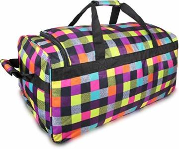 normani Reisetasche Jumbo Big-Travel mit Rollen riesige XXL Farbe Neon Square - 5