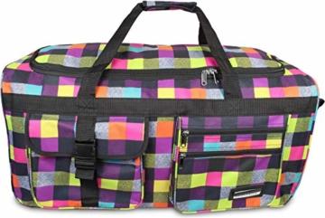 normani Reisetasche Jumbo Big-Travel mit Rollen riesige XXL Farbe Neon Square - 6