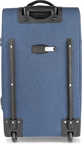 normani XXL Reisetasche mit 125 Liter und 3 großen Fächern - Trolley mt Zwei Rollen Farbe Blau/Grau - 3