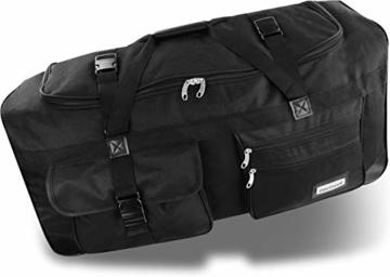 normani XXL Reisetasche mit Trolleyfunktion - 80, 100, 120 oder 150 Liter - mit 3 Rollen und 3 Verstärkungsstreben Größe 80 Liter - 2