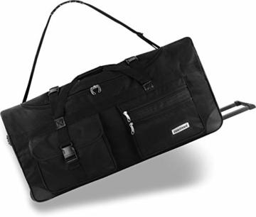 normani XXL Reisetasche mit Trolleyfunktion - 80, 100, 120 oder 150 Liter - mit 3 Rollen und 3 Verstärkungsstreben Größe 80 Liter - 1