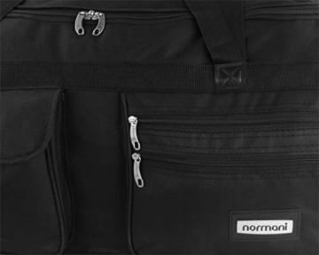 normani XXL Reisetasche mit Trolleyfunktion - 80, 100, 120 oder 150 Liter - mit 3 Rollen und 3 Verstärkungsstreben Größe 80 Liter - 5