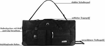 normani XXL Reisetasche mit Trolleyfunktion - 80, 100, 120 oder 150 Liter - mit 3 Rollen und 3 Verstärkungsstreben Größe 80 Liter - 7