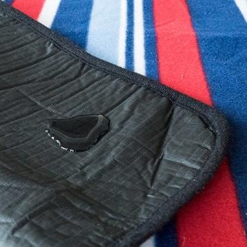 outdoorer Picknickdecke XL Fleece - große Fleecedecke (150 x 180 cm), Camping- und Stranddecke mit Streifen - 3