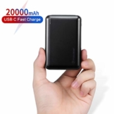 POSUGEAR Powerbank 20000mAh Quick Charge 3.0, Powerbank USB C PD 22.5W mit 3 Ausgängen Kompatibel mit Handy, Tablet, Laptop (Zwei Kabel-Type C & Micro) - 1