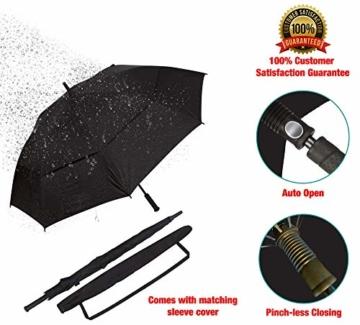 Procella Regenschirm Sturmfest Groß Schirm - Automatisches Öffnen Golfschirm 157 cm - Hochwertiger Stylischer Stockschirm für Herren und Damen - Belüftet Doppelüberdachung - Winddicht Wasserdicht - 2