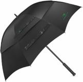 Procella Regenschirm Sturmfest Groß Schirm - Automatisches Öffnen Golfschirm 157 cm - Hochwertiger Stylischer Stockschirm für Herren und Damen - Belüftet Doppelüberdachung - Winddicht Wasserdicht - 1