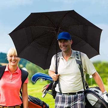 Procella Regenschirm Sturmfest Groß Schirm - Automatisches Öffnen Golfschirm 157 cm - Hochwertiger Stylischer Stockschirm für Herren und Damen - Belüftet Doppelüberdachung - Winddicht Wasserdicht - 4