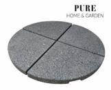 Pure Home & Garden 4 Granitplatten Stout, für Schirmständer, perfekt auch für Ampelschirme, 84 kg Gesamtgewicht - 1