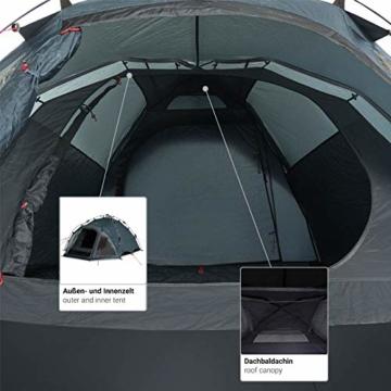 Qeedo Quick Oak 3 Personen Campingzelt, Sekundenzelt, Quick-Up-System - grau - 5