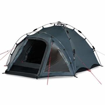 Qeedo Quick Oak 3 Personen Campingzelt, Sekundenzelt, Quick-Up-System - grau - 6