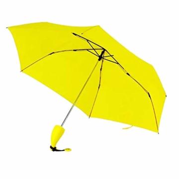 Regenschirm Kinder-Regenschirm Windproof Sturmfest Nylon Umbrella Wasserabweisend Leicht, Taschenschirm Stabil 6 Rippen Banana Form Griff, Regenschirm mit Heller Farbe - 2