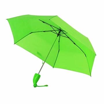 Regenschirm Kinder-Regenschirm Windproof Sturmfest Nylon Umbrella Wasserabweisend Leicht, Taschenschirm Stabil 6 Rippen Banana Form Griff, Regenschirm mit Heller Farbe - 1