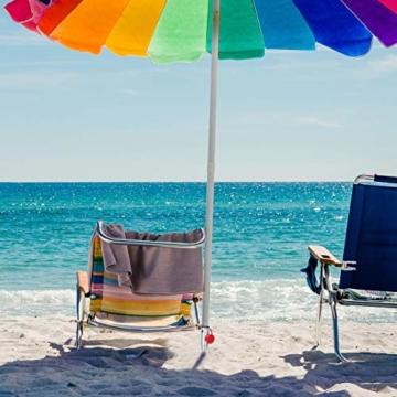 Relaxdays, Silber Bodenhülse Sonnenschirm, Drehhülse, Adapter 25-55 mm, Sonnenschirmhalter, Drehstange, Stahl verzinkt, 1 Stück - 2
