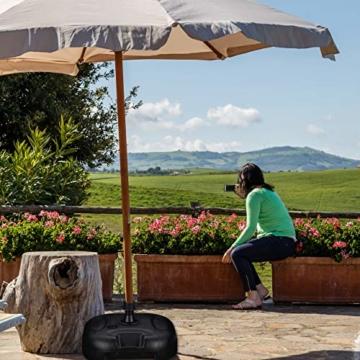 Relaxdays Sonnenschirmständer befüllbar mit Wasser o. Sand, Stockgröße 25-32mm, 44x42 cm, Kunststoff Schirmfuss, schwarz - 6